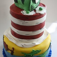 Dr Seuss All cake, mmf and buttercream