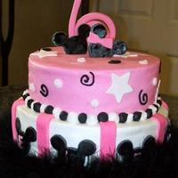 Mickey Pink, Black And White Chocolate cake, with vanilla buttercream and mmf. Thank you Bania, I was looking at your cake at work and a co-worker saw it and ordered...