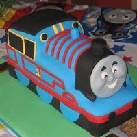 Thomas The Tank Engine This Thomas the Tank Engine tested my repairing skills. WASC with chocolate buttercream. It started smoothly but collapsed before I put the...