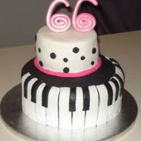 Piano Cake Piano birthday cake for my mom's girlfriend. it's my 9th fondant cake.