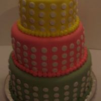Colorful Dots   This cake was for a 60th birthday. I should have added a bow to make it look finish.