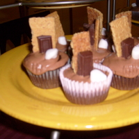 Smore's Cupcakes on two tier stand