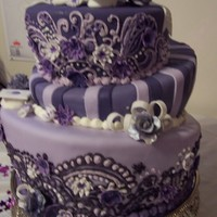 Purple Topsy Turvy Graduation Cake I made this for my best friend's graduation, she loves purple and since she went to several colleges over the last 20 some years we...