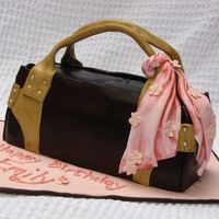 Brown Leather Purse This is my first attempt at a purse cake. Hope you like it!