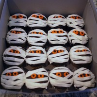 Mummy Cupcakes Mummy cupcakes done for the cake walk/fall festival at my son's school