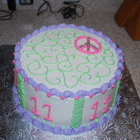 Peace Birthday Cake I made this for my daughters birthday since she is very into the peace signs now. I got the inspiration from another cake that I saw here...