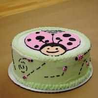 Lady Bug Cake Inspired by a cake by a fellow CC'er. Could be a baby shower or a first birthday.