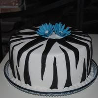 Zebra Cake Another Zebra striped cake for a 15 year old's b-day.