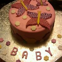 Baby Hower Cake with cupcakes....