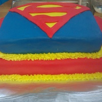 Superman Cake I was very proud of this one.