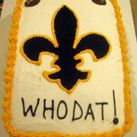 Who Dat! I made this cake for a Saints vs. Redskins Party that we attended.
