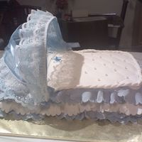 Baby Bassinet   Made this for a baby shower. Chocolate cake and almond buttercream