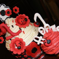 Lady Bug Giant Cupcake 1St Birthday