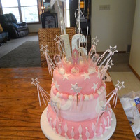 Sweet 16 Princess Thee Cake My best friend asked me to make her Sweet 16 cake for her Princess Theme party :)
