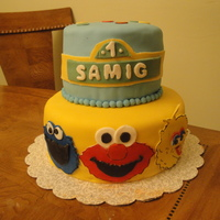 Sesame Street I was inspired by many cakes seen here on CC.