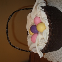 Easter Basket I was inspired by shugarshack's basket cake. White cake with white chocolate ganache filling and MMF. My gumpaste handle broke so I...