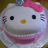 Hello Kitty I made this cake for my niece's 5th birthday party. It was a huge hit!