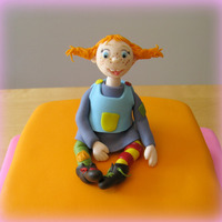 Pippi Longstockings Pippi Longstockings as cake topper and bright colours for a little girls 3rd birthday.Cake is very much inspired by dutch-cakebox - thank...