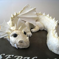 Dragon Cake In Pale Gold And Brown