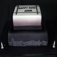New York Skyline Themed 40Th Birthday Cake