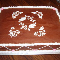 Chocolate Birthday Cake This was a square double layer chocolate cake with chocoate fudge icing.