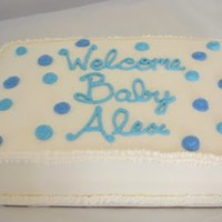 Baby Alex Cake This was a marble cake with BC icing for a baby shower. Simple but was fun to do! Thanks for looking!