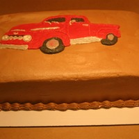 50Th Birthday Truck Cake  This was done for a family friend of mine. This is my re-creation of his Ford truck. First time I have tried a FBCT this difficult. It&#039...
