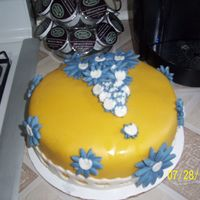 This Is My 2Nd Cake i made this for a friend at work im just learning as i go no classes...