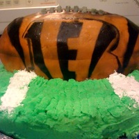 Football Cake (Cincinnati Bengals) This is a Cincinnati Bengals cake I did for my son's teacher. It was her husbands birthday and he is a huge Bengals fan. This was my...