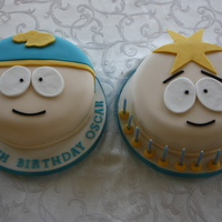 South Park, Eric Cartman, Butters Sponge covered in fondant