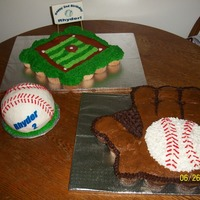 Baseball Theme Pull Apart Cakes And Smash Cake