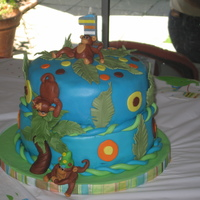 Monkey Cake For 1St Birthday This is a monkey cake that I made for my great-nephew Mateo 1st birthday. I was a chocholate cake with chocholate frosting. This is the...