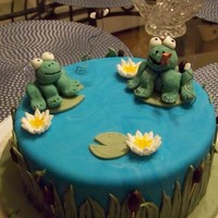Frog Cake For My Fondant And Gumpaste Course