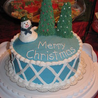 Christmas Eve Snowman Cake My first holiday cake. I made this for my children on Christmas Eve as a special surprise. They loved it and I was okay with how it turned...