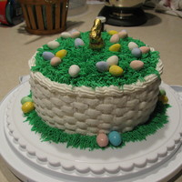 First Easter Cake I decided to make my children an Easter cake this year. I am still new to decorating, so I attempted a basket filled with eggs. I didn&#039...