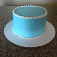 Simple Blue Cake simple blue cake, all buttercream