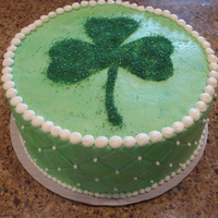 Irish Cake all buttercream with sprinkle shamrock