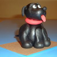 Black Dog modelling paste dog. thank you aine2 for your tutorial on you-tube