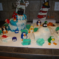 Club Penguin Birthday Cake This is a club penguin birthday cake that was inspired by lauraleessweets (thank you), but with a few more details added. The main part of...