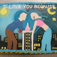 I Love You Because This was a cake I decorated for Missouri State University's Theatre & Dance Department. The design was based on the poster for...