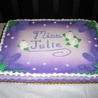 Miss Julie Cake This is a buttercream cake decorated for the MSU Theatre and Dance Dept.'s production of Miss Julie.