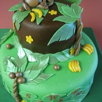 Monkey/jungle Theme Birthday Cake