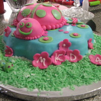 "Lady Bug ""garden"" Birthday Cake"