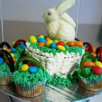 Easter Bunny & Eggs In A Basket
