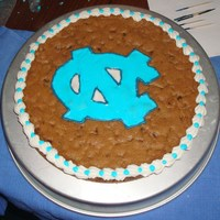 Unc Cookie Cake This is my first Chocolate Chip Cookie Cake. Made this cake for a co-worker. UNC Image is made out of Royal Icing. As you can tell I love...