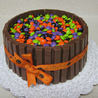 Halloween Candy Barrel Cake I made this for a church's Halloween cakewalk. I didn't want to show up empty handed since I'm not a member there, though I...
