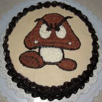 Goomba Cake This was another cake I did just for practice. I was unsatisfied with how my stars came out on the last cake, so I decided to try again...