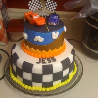 Cars Cake This was my first fondant cake- and I completely stole the design from cynfully-yours on CC. Thank you C-Y! It was a huge hit, and a great...