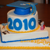 High School Graduation Cake I did this cake for my cousin's graduation. She is going to Cosmetology School in the fall, so I made the hair dryer, scissors, etc....