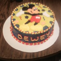 Mickey Mouse I was given an invitation and asked to make a cake to match.